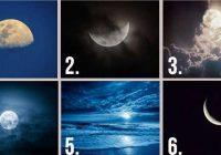 Kurš Mēness attēls jums patīk visvairāk? Atbilde atklās jūsu rakstura īpašības