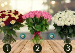 Izvēlieties rožu pušķi un izlasiet savu vēlējumu uz nedēļu
